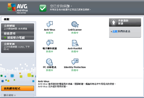 免費防毒軟體推薦 AVG Anti-Virus Free Edition 2012