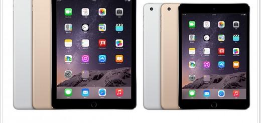 iPad Air 2 / mini3 何時上市與前代規格差異點